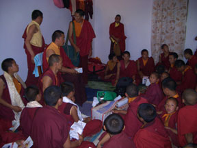 Senge Tenzin Rinpoche and his monks