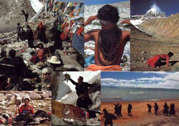 Pilgrims at Kailash and Manasarovar